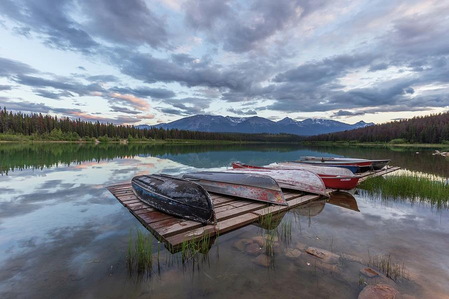 Patricia Lake Sunset by Paul Schultz