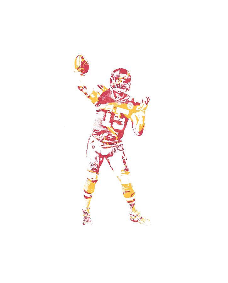 40e0dd9625b Kansas City Chiefs Mixed Media - Patrick Mahomes Kansas City Chiefs Apparel  T Shirt Pixel Art