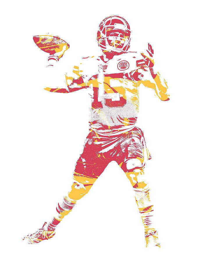 Patrick Mahomes Kansas City Chiefs Pixel Art 1 Mixed Media By Joe