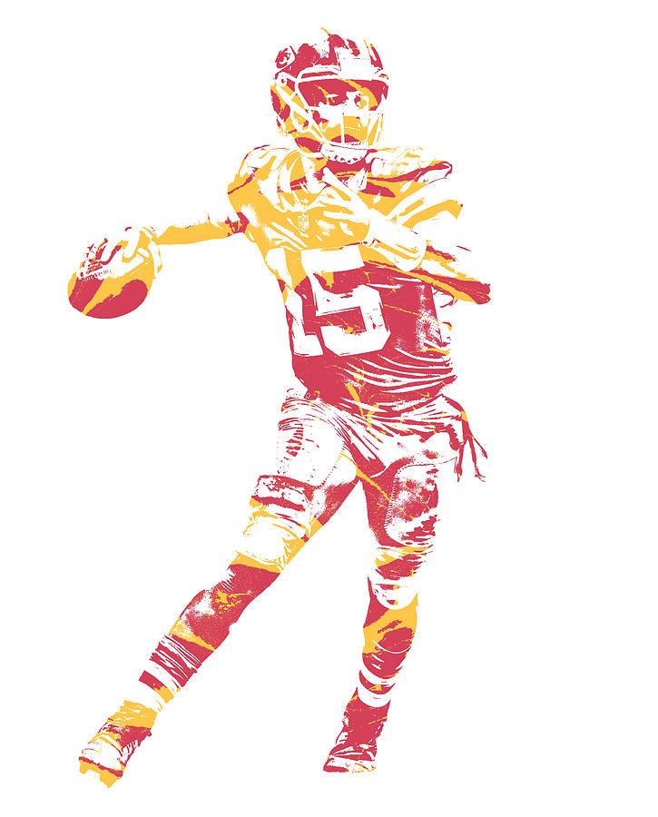 47e41578b1f Chiefs Mixed Media - Patrick Mahomes Kansas City Chiefs Pixel Art 11 by Joe  Hamilton
