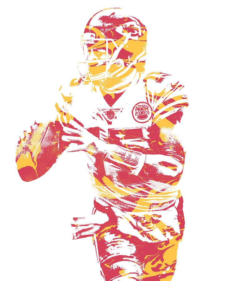Patrick Mahomes Chiefs Iphone Wallpaper: Patrick Mahomes Kansas City Chiefs Pixel Art 12 Mixed