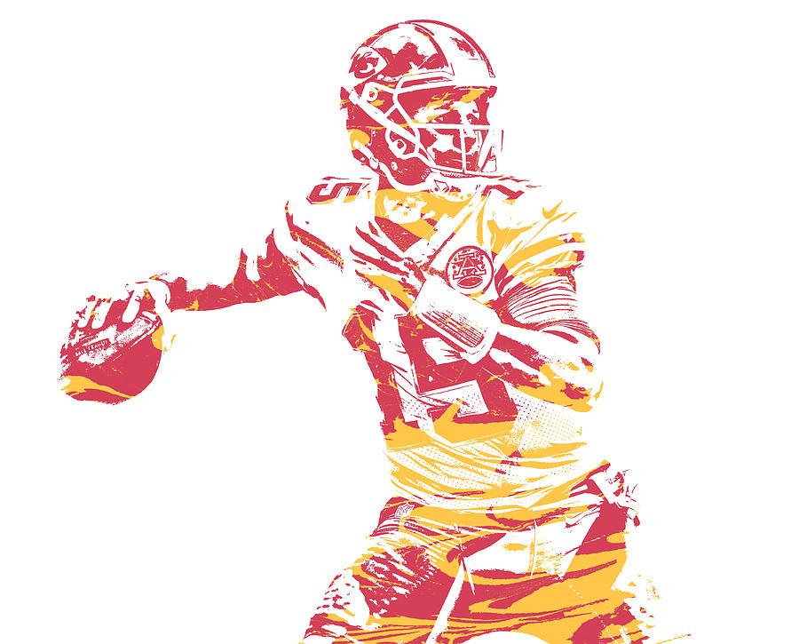 8cd3bc03dc2 Chiefs Mixed Media - Patrick Mahomes Kansas City Chiefs Pixel Art 14 by Joe  Hamilton