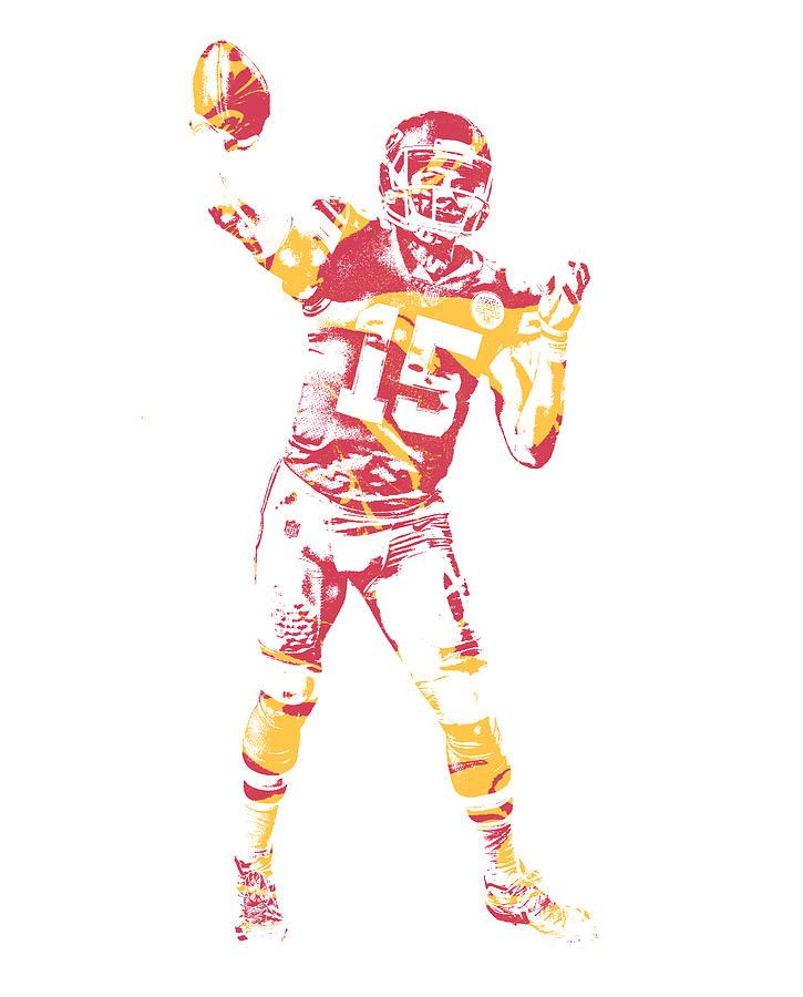793910dfe9b Chiefs Mixed Media - Patrick Mahomes Kansas City Chiefs Pixel Art 2 by Joe  Hamilton