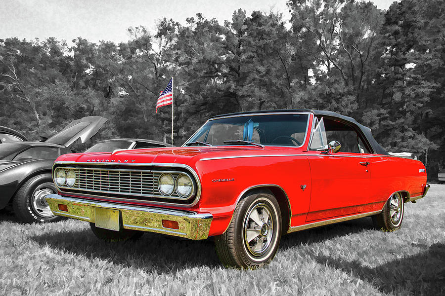 Patriotic 64 Chevy Chevelle by Kristia Adams