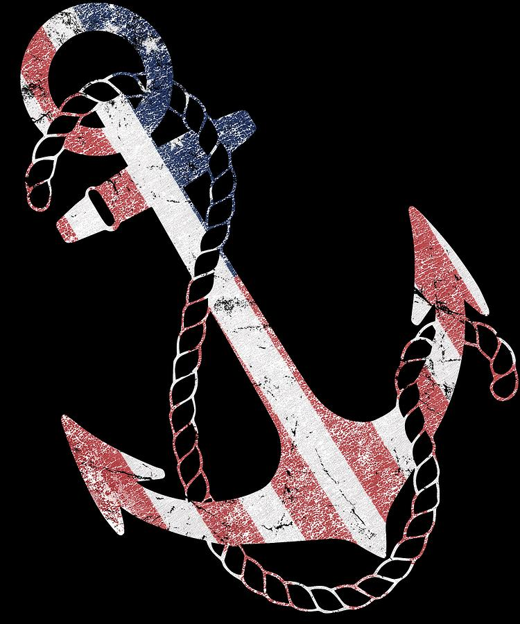 Patriotic American Flag Anchor by Flippin Sweet Gear