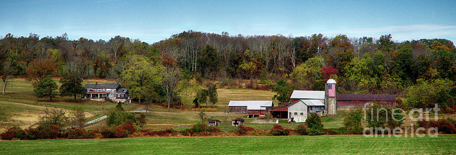 Patriotic Farm Panorama by Mark Miller