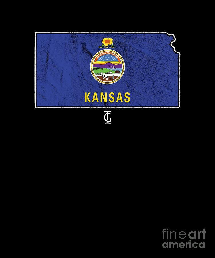Country Digital Art - Patriotic Kansans Kansan Flag Nationalism Usa by Thomas Larch