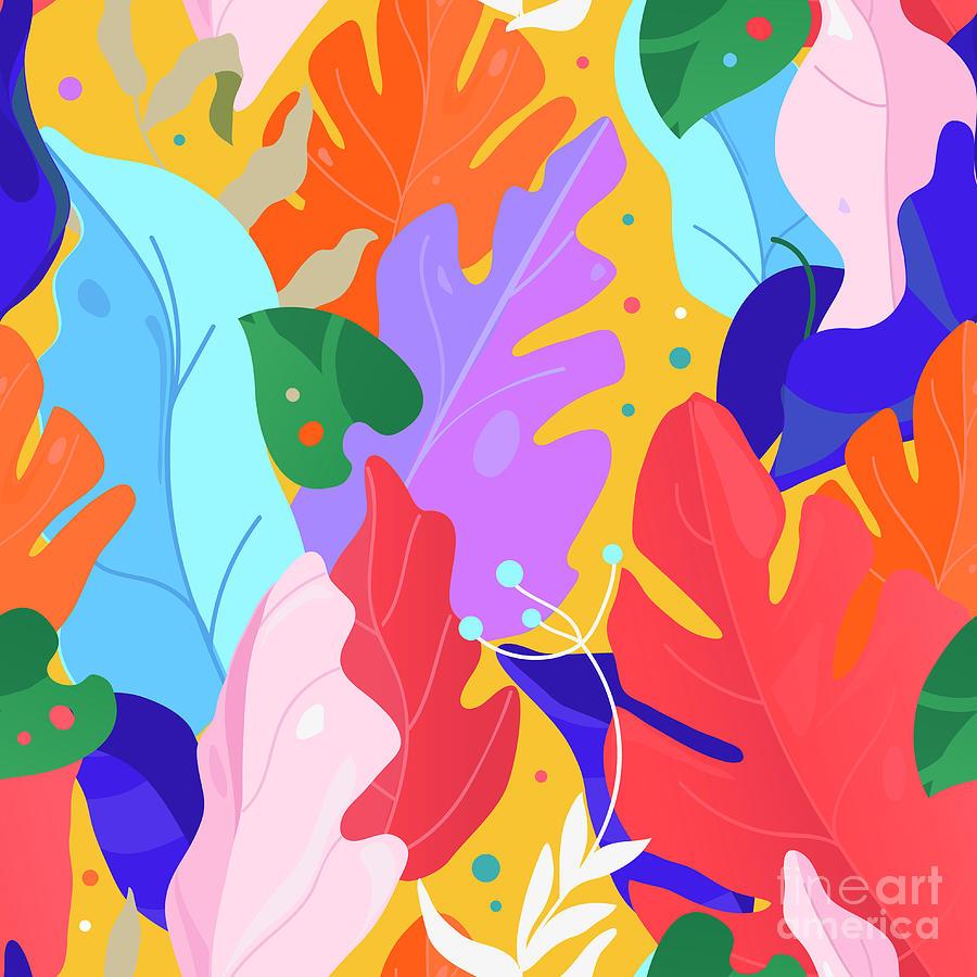 Pattern. Creative Contemporary Floral Digital Art by Vivali