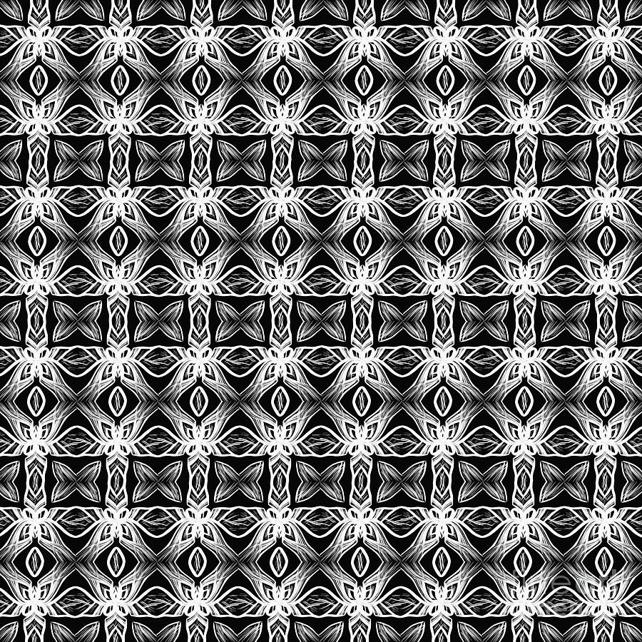 Pattern in Black and White by Kaye Menner by Kaye Menner