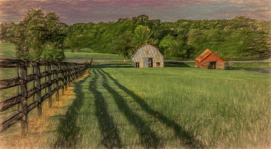 Patterns of the Pasture, Painterly  by Marcy Wielfaert