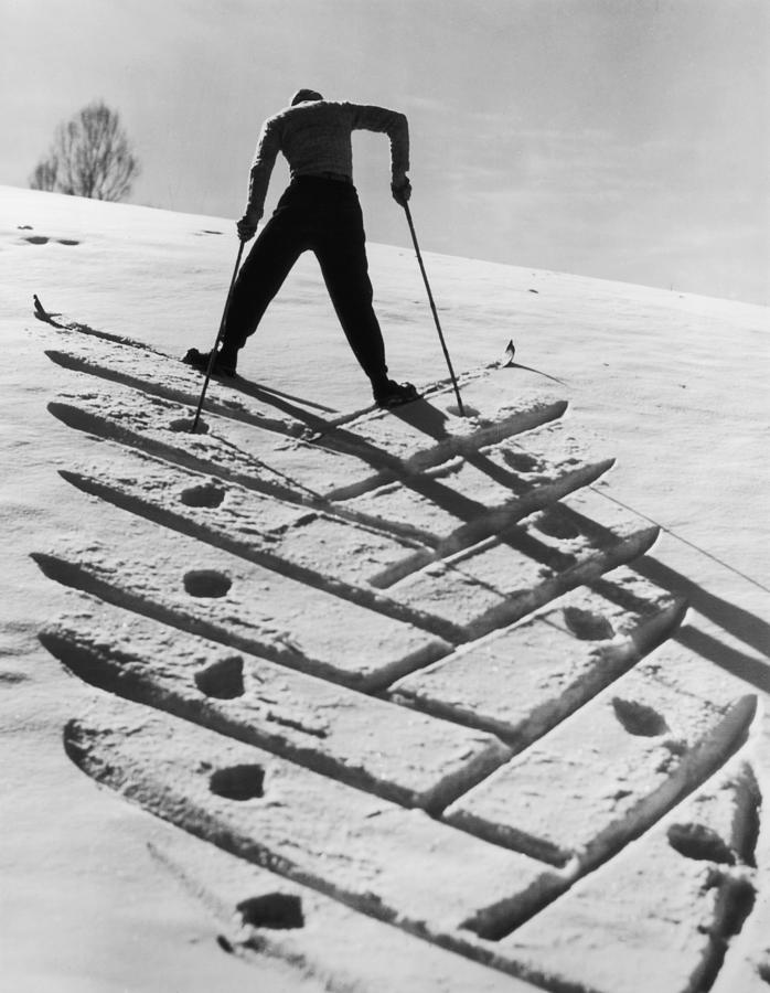 Patterned Snow Photograph by Hulton Archive