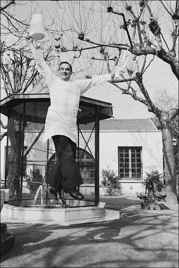 Paul Bocuse In His Kitchen In Lyon Photograph by Michel Artault