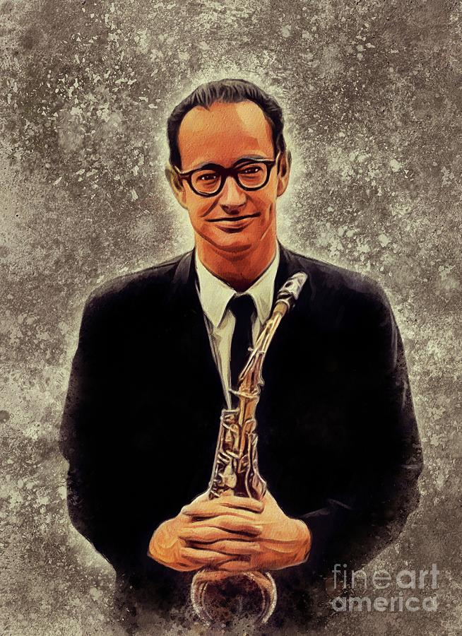 Paul Painting - Paul Desmond, Music Legend by Esoterica Art Agency