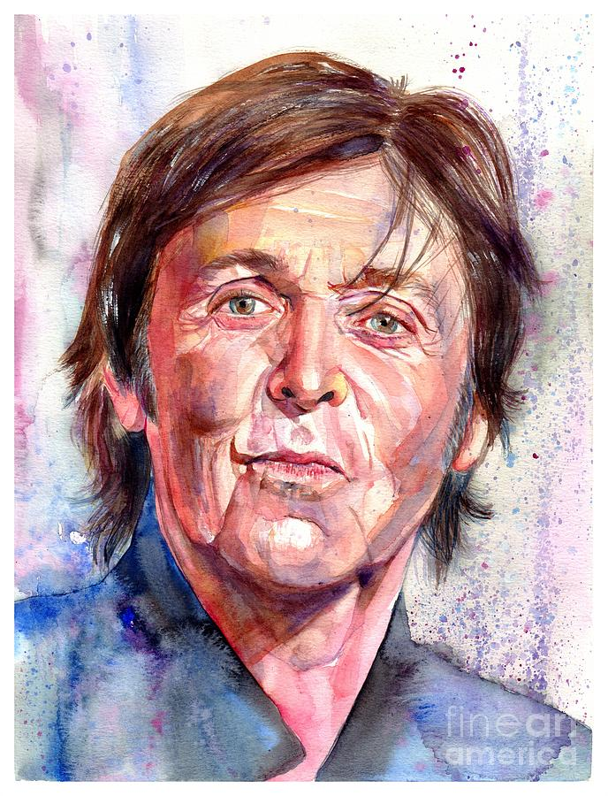 Paul Painting - Paul Mccartney Watercolor by Suzann Sines