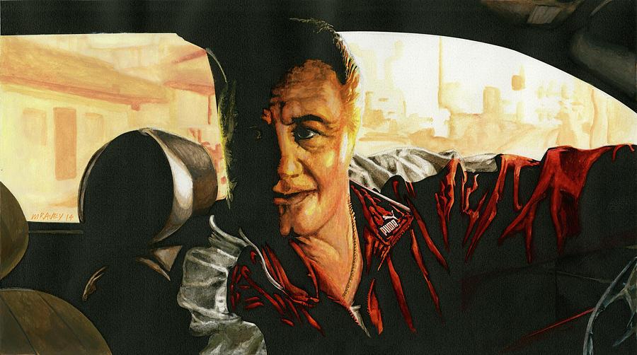 Paulie Gualtieri Painting - Paulie by Michel Ravey