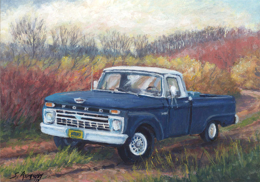 Paul S F100 66 Ford Pickup Painting By Steven Assmann