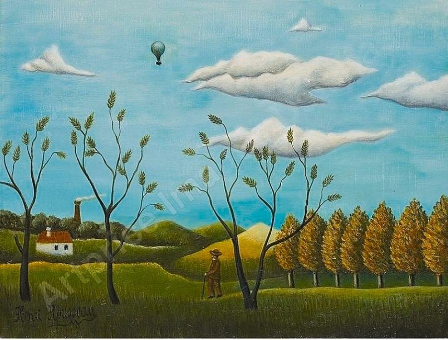Paysage De Banlieu Painting