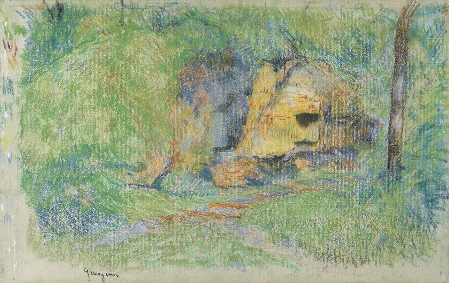 Paysage  Probablement Pontoise  by Paul Gauguin