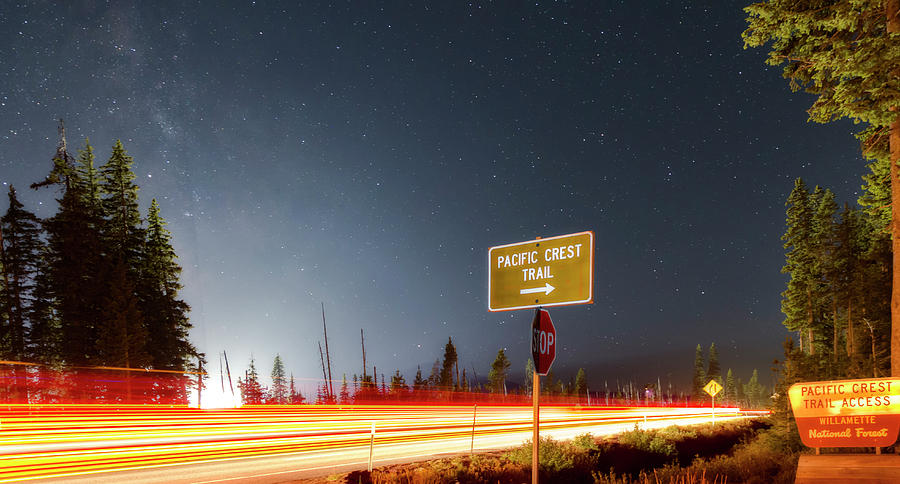 Night Photograph - Pct Access by Cat Connor