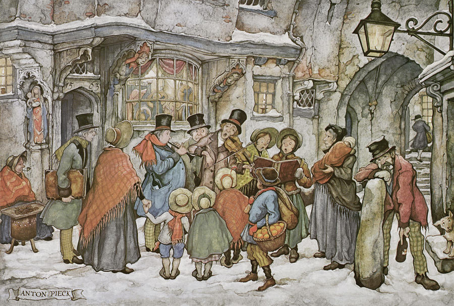 Christmas Painting - Pd 581 by Anton Pieck