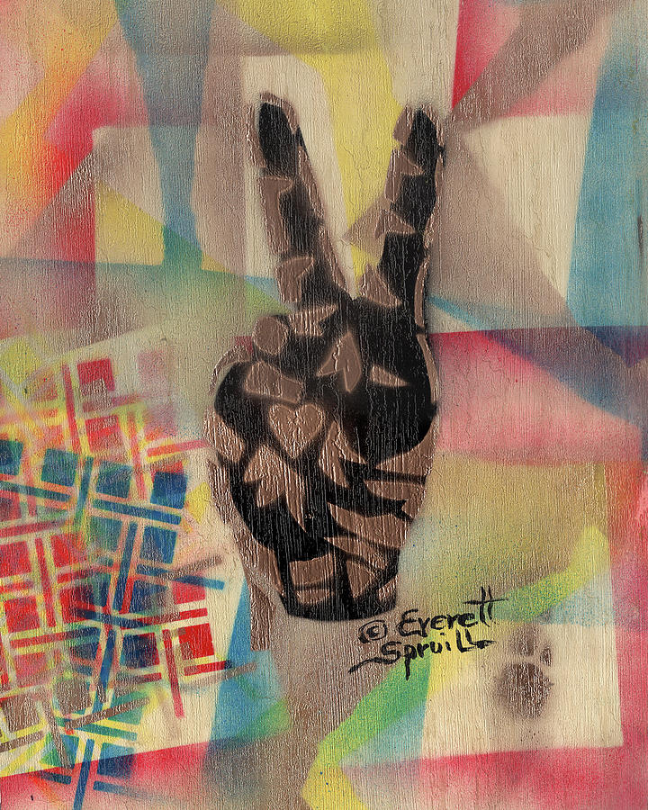 Peace and Love - B by Everett Spruill