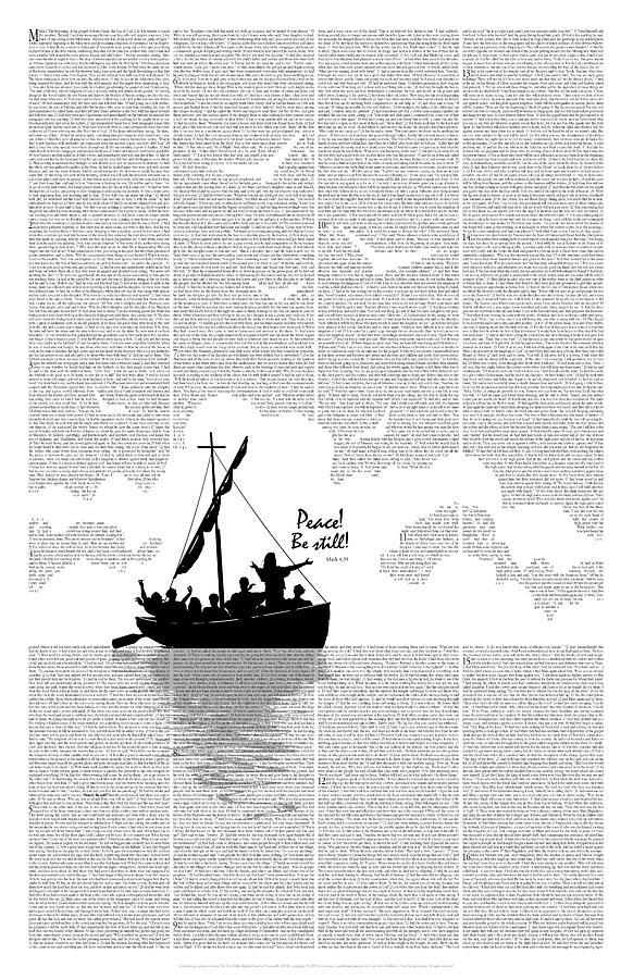 Bible Digital Art - Peace Be Still by Clint Hansen