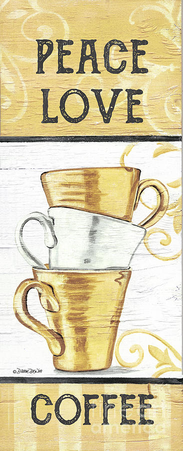 Peace, Love, Coffee 2 Painting