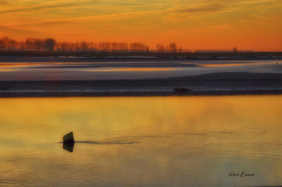 Peace on the waters of Mt st michael by Karo Evans