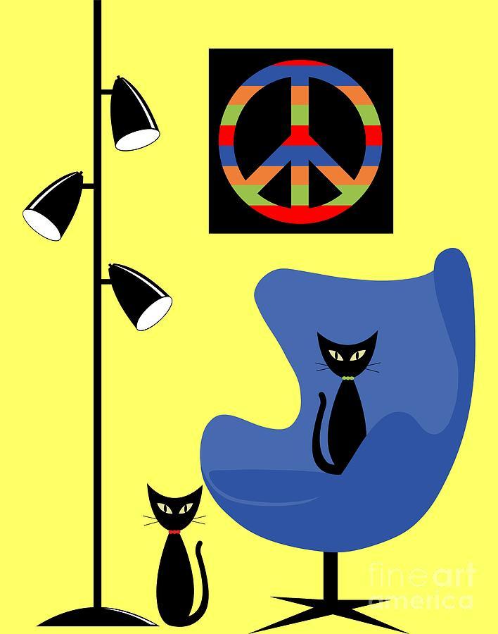 Peace Symbol Transparent by Donna Mibus
