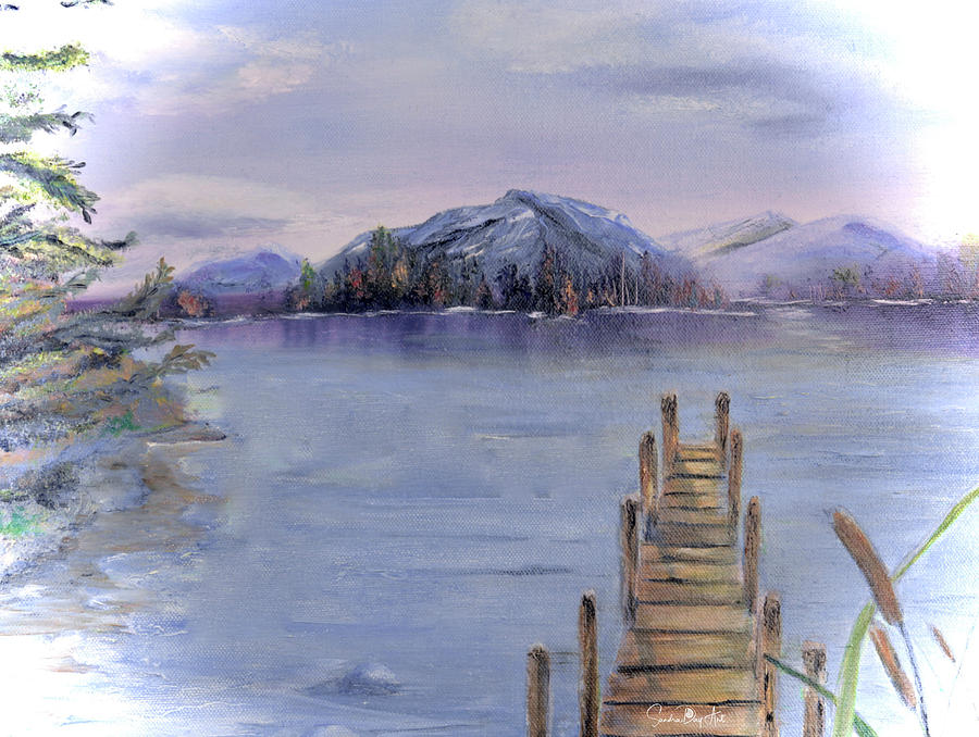 Peaceful Cattails by Sandra Day