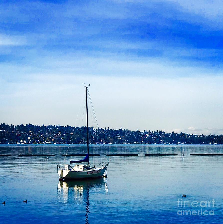 Peaceful Day in Blue by Suzanne Lorenz