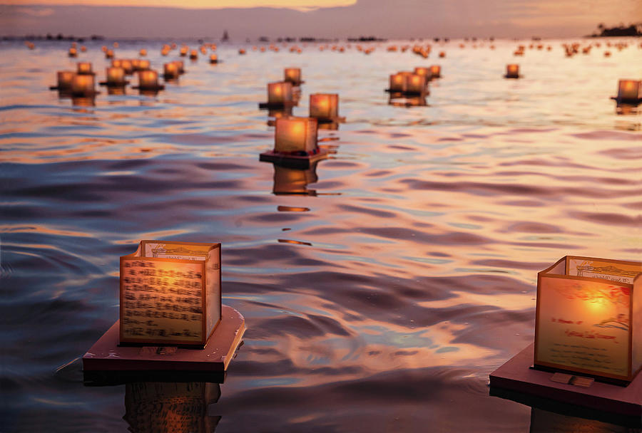 Peaceful Japanese Floating Lanterns Photograph by Julie Thurston