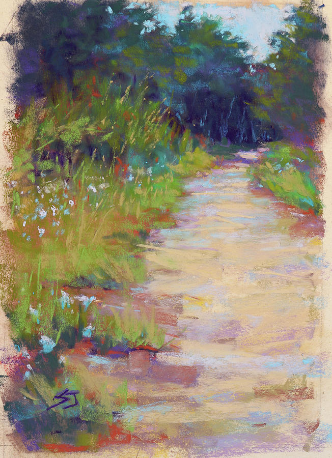 Road Painting - Peaceful Journey by Susan Jenkins