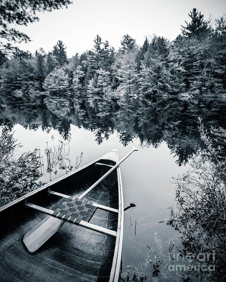 Peaceful Lakeside Canoe by Edward Fielding