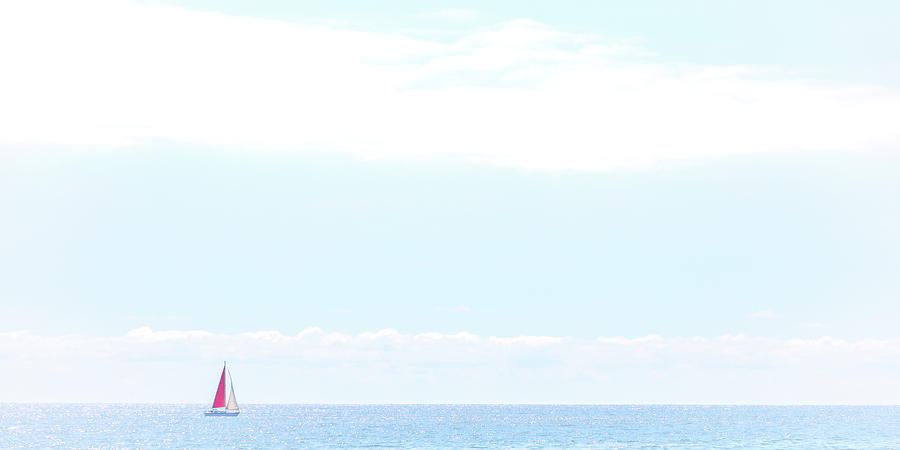 Beach Photograph - Peaceful Sailing by Peter Tellone