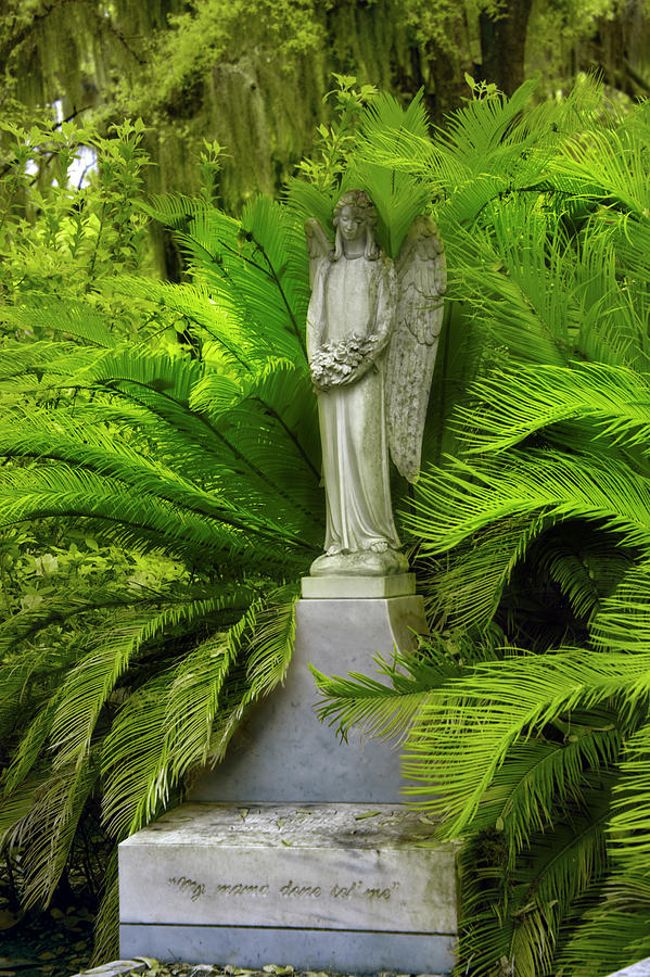 Peaceful  Thoughts at Bonaventure Cemetary by Jon Glaser