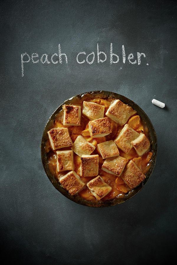 Peach Cobbler Photograph by Lew Robertson