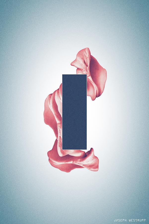 Peach Organon - Surreal Abstract Rectangle on Seashell by Joseph Westrupp