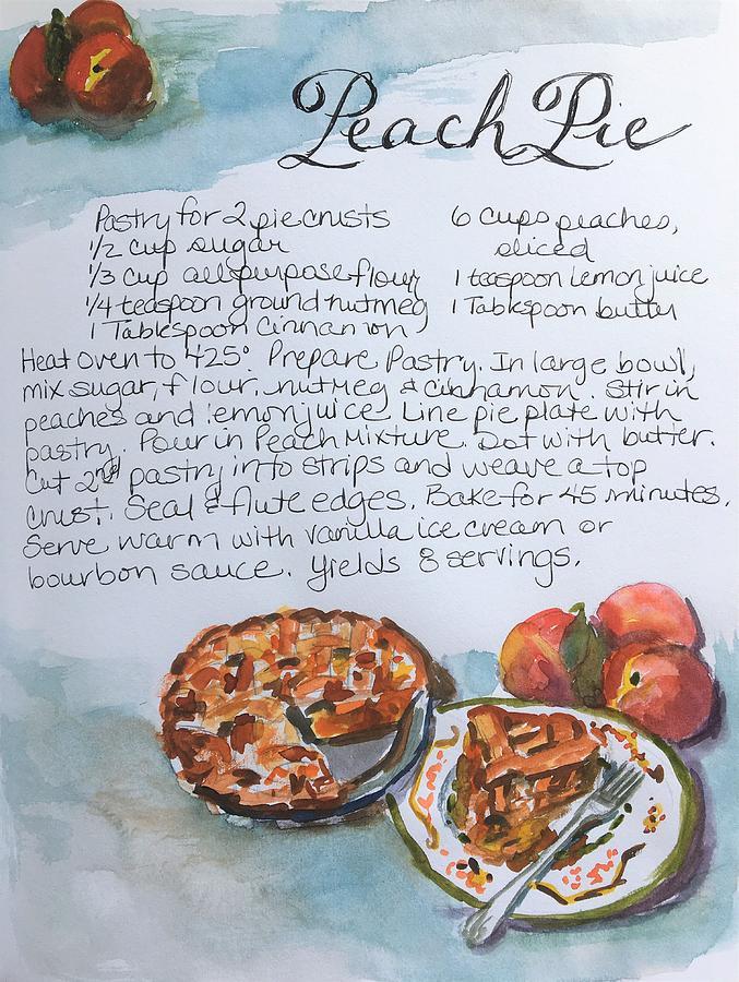 Peach Pie Recipe by Susan Elizabeth Jones