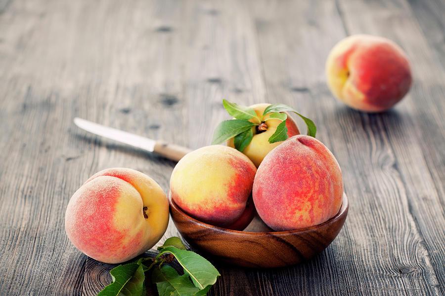 Peaches Photograph by Barcin