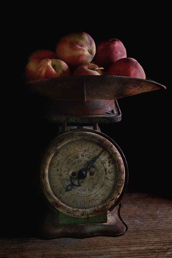 Peaches on Scale by Richard Rizzo