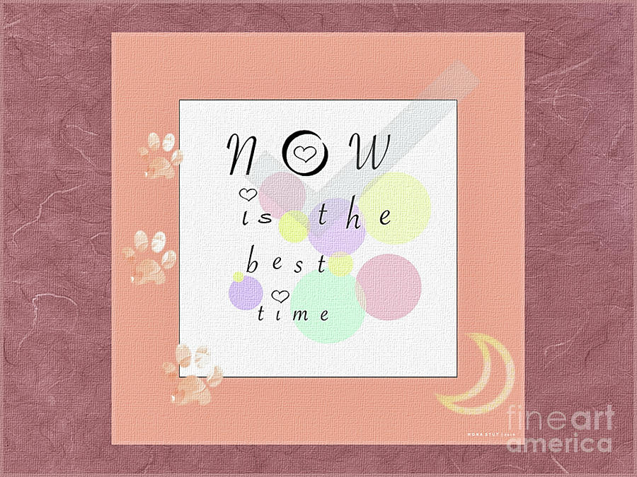 Peachy Pink Wabi Sabi Time Digital Art