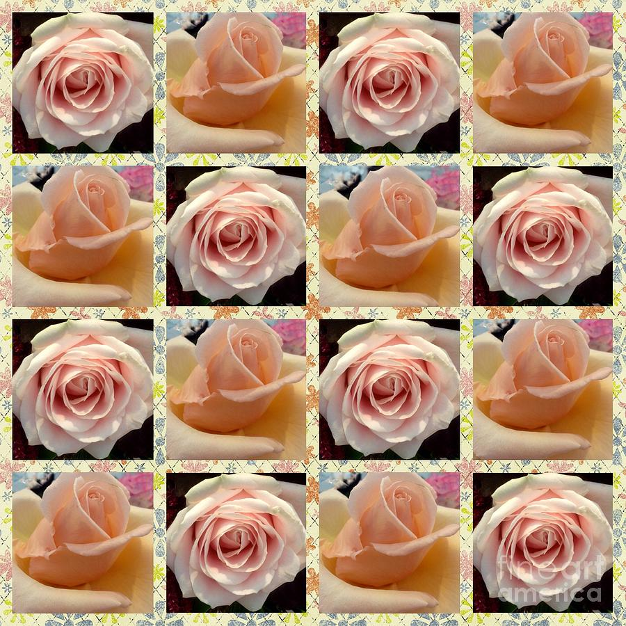 Peachy Roses Design by Joan-Violet Stretch