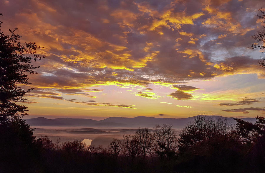 Peachy Shenandoah Valley Sunrise by Lara Ellis