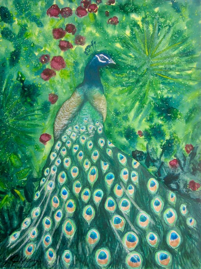 Peacock by Christine Kfoury
