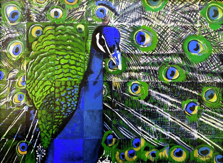 Peacock Painting - Peacock by Dustin Miller
