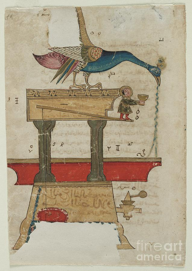 Peacock-shaped Hand Washing Device Drawing by Heritage Images