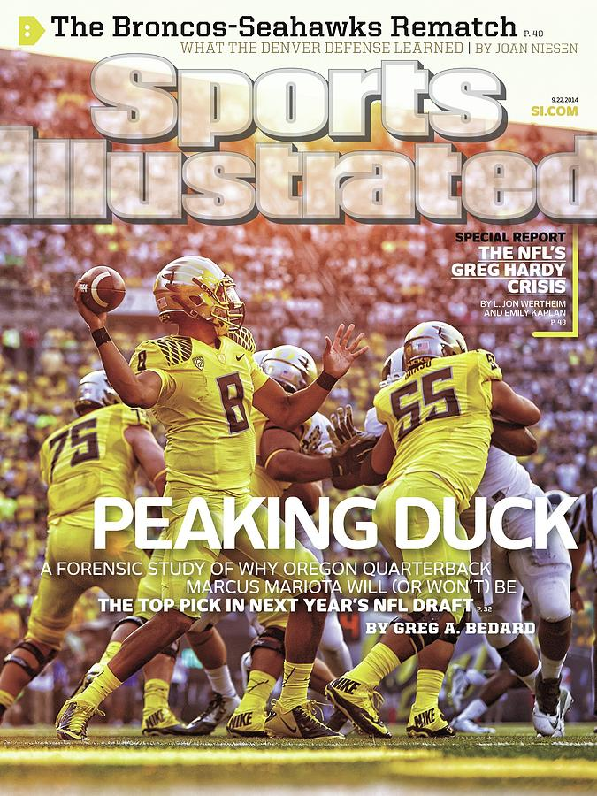 Peaking Duck Marcus Mariota Sports Illustrated Cover Photograph by Sports Illustrated