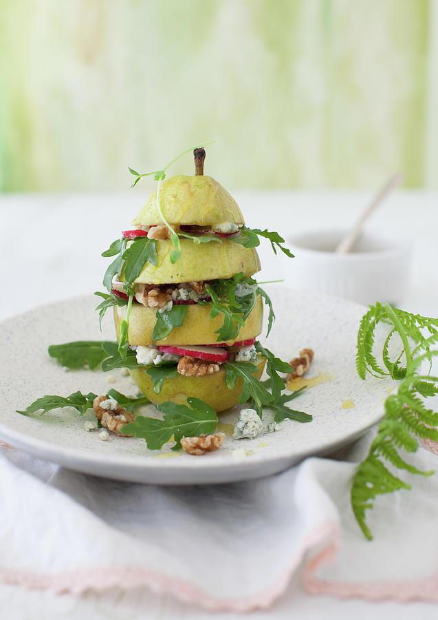 Pear And Arugula Salad Photograph by Yelena Strokin