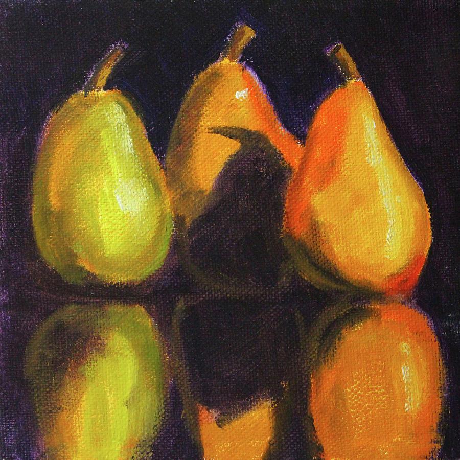 Pear Shadows Still Life by Nancy Merkle